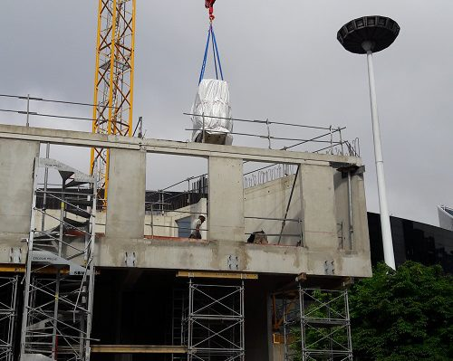 Grue module sanitaire de chantier